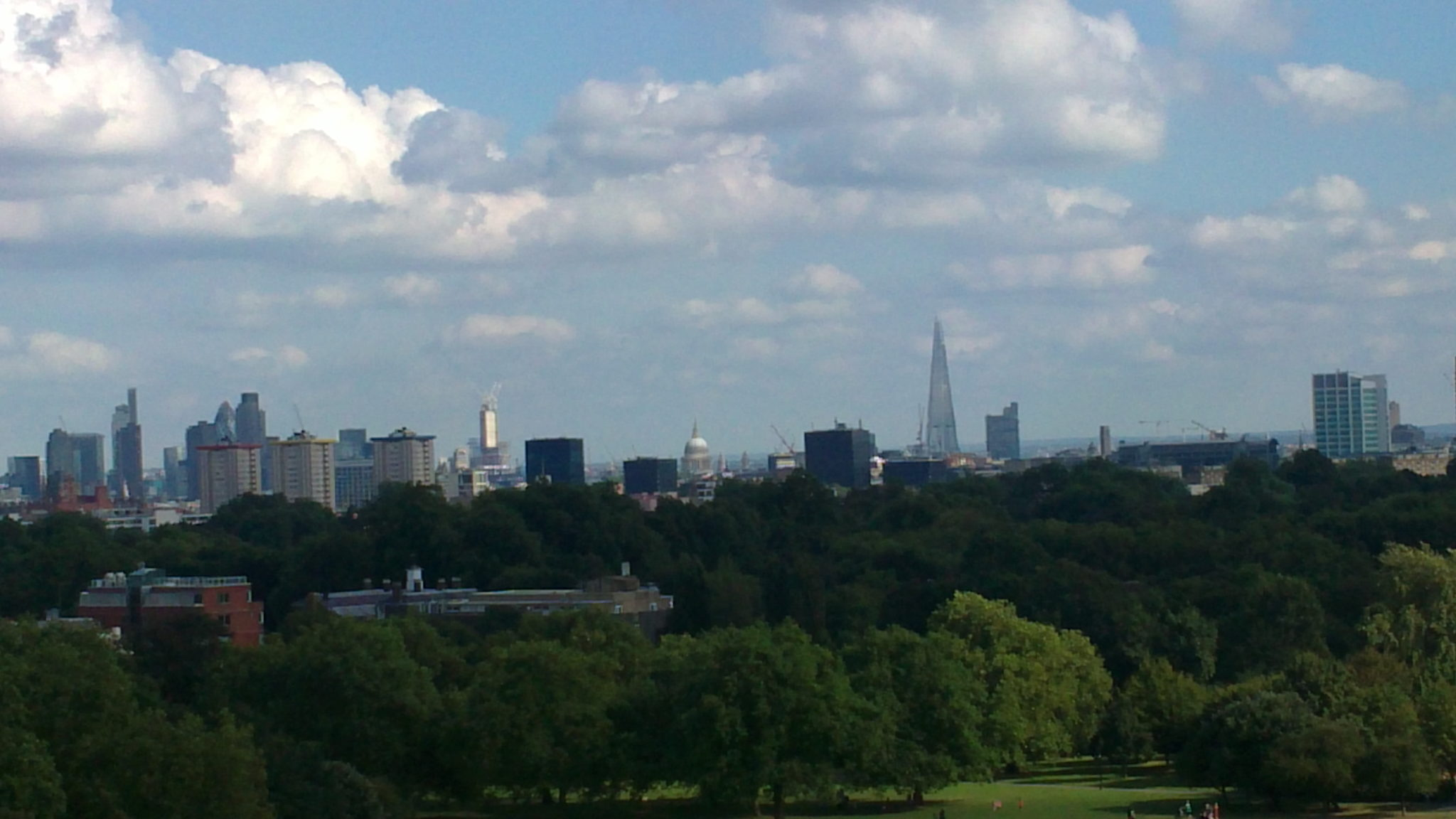 Primrose hill london shard