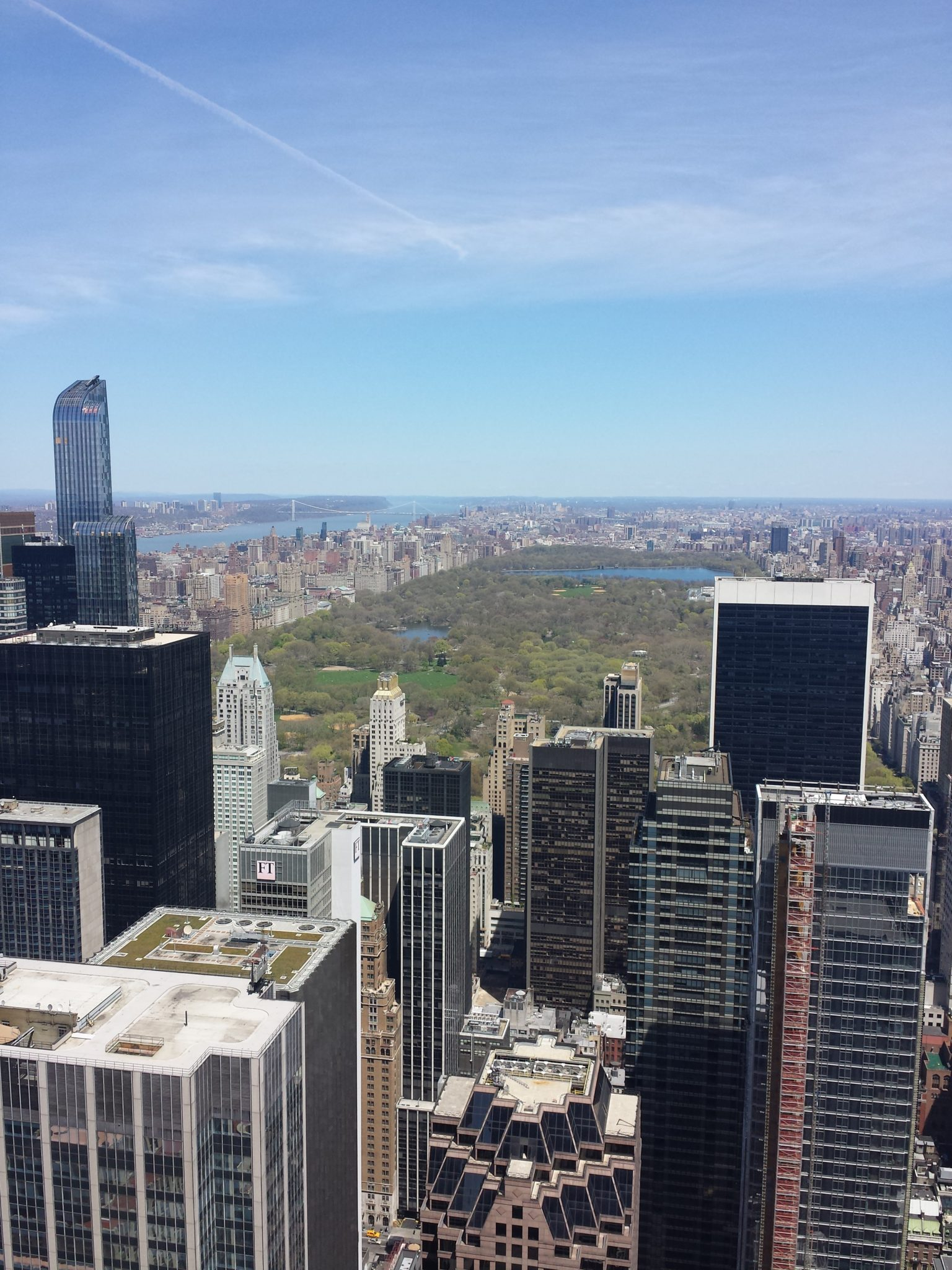 Vue top of the rock rockfeller center new york
