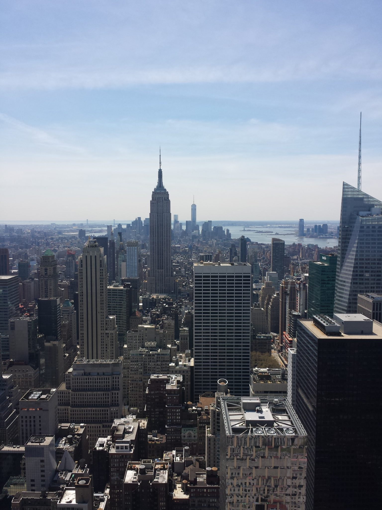 Empire state building Vue top of the rock rockfeller center new york