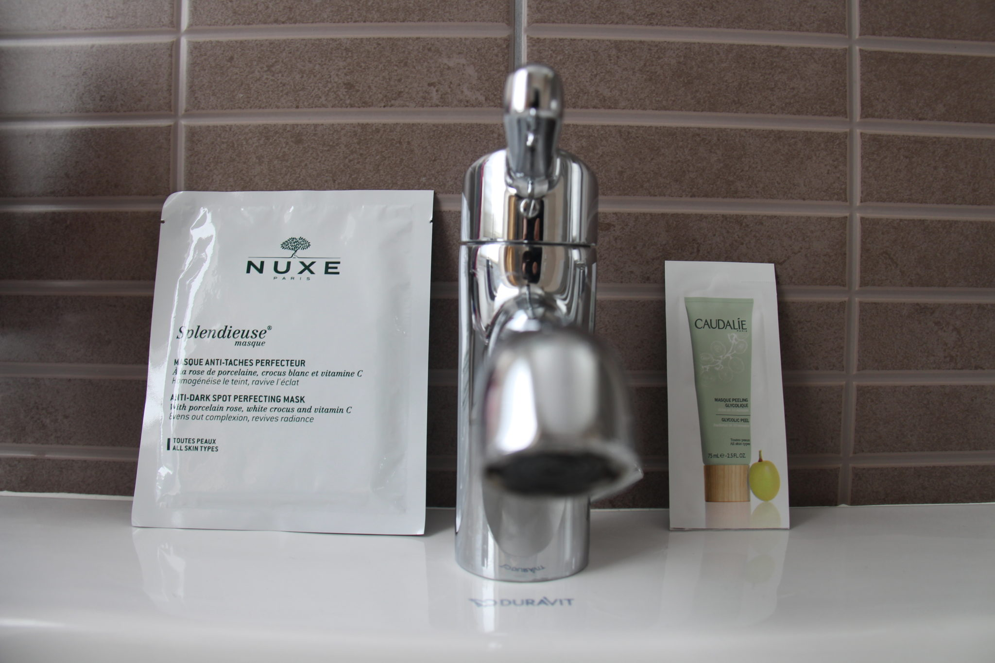 nuxe splendieuse masque caudalie acide glycolique