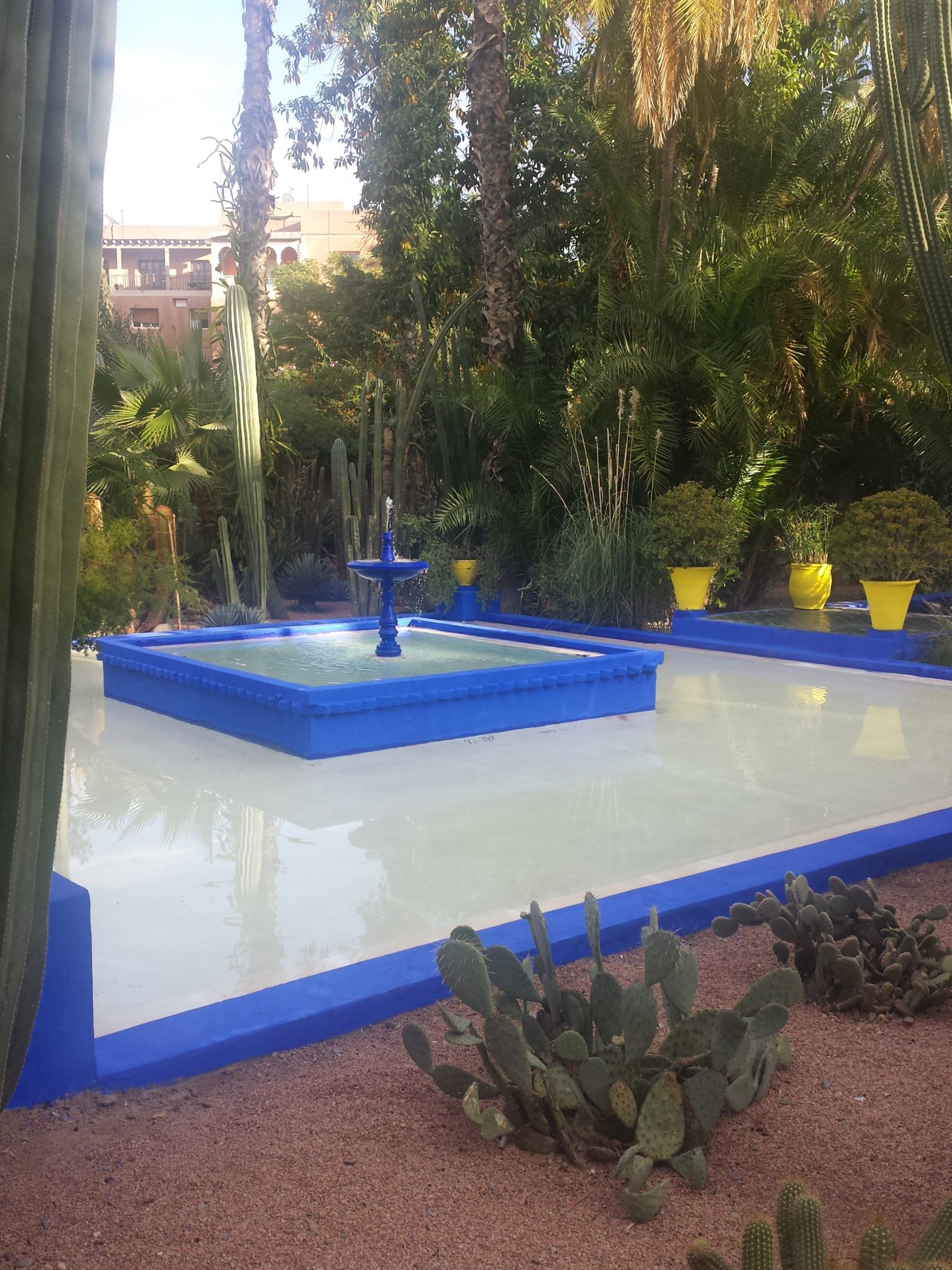 Fontaine Jardin Majorelle, Marrackech