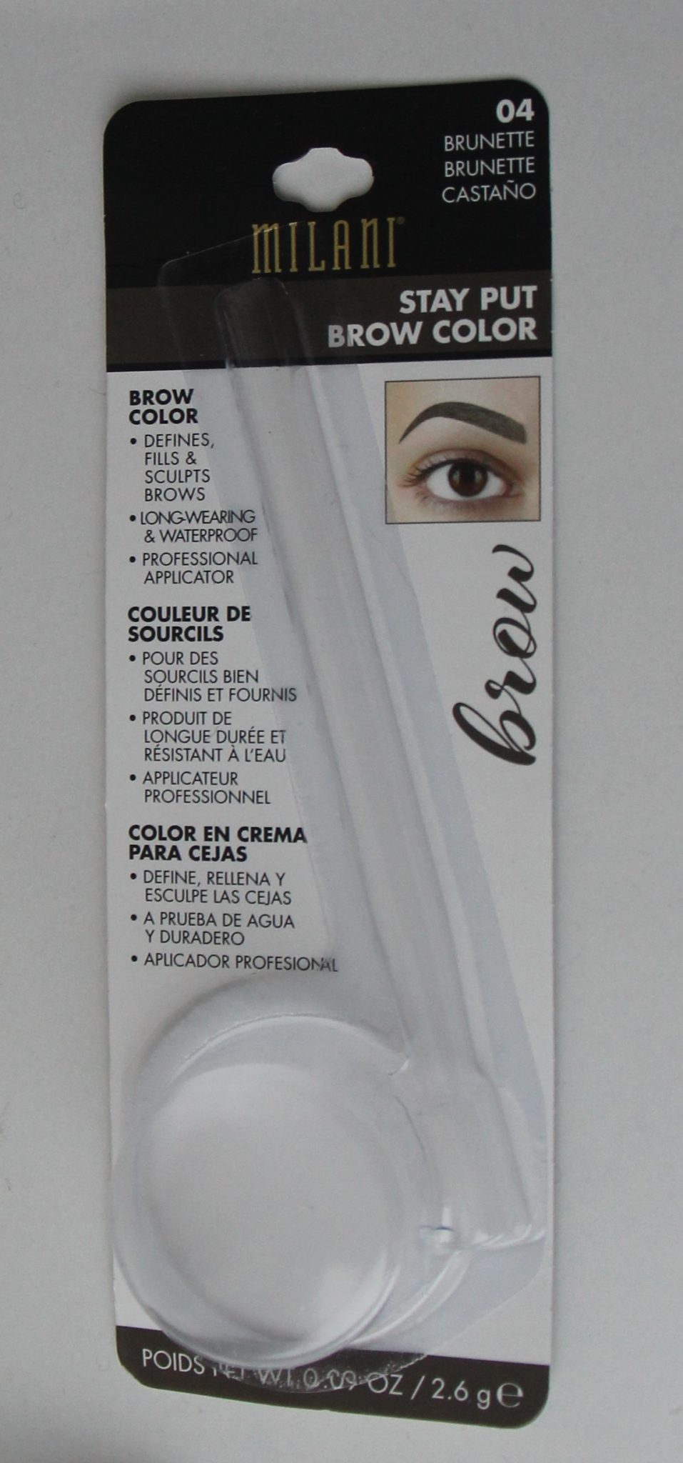 MILANI STAY PUT BROW COLOR gel à sourcils n°4 DisMoiCéline 3