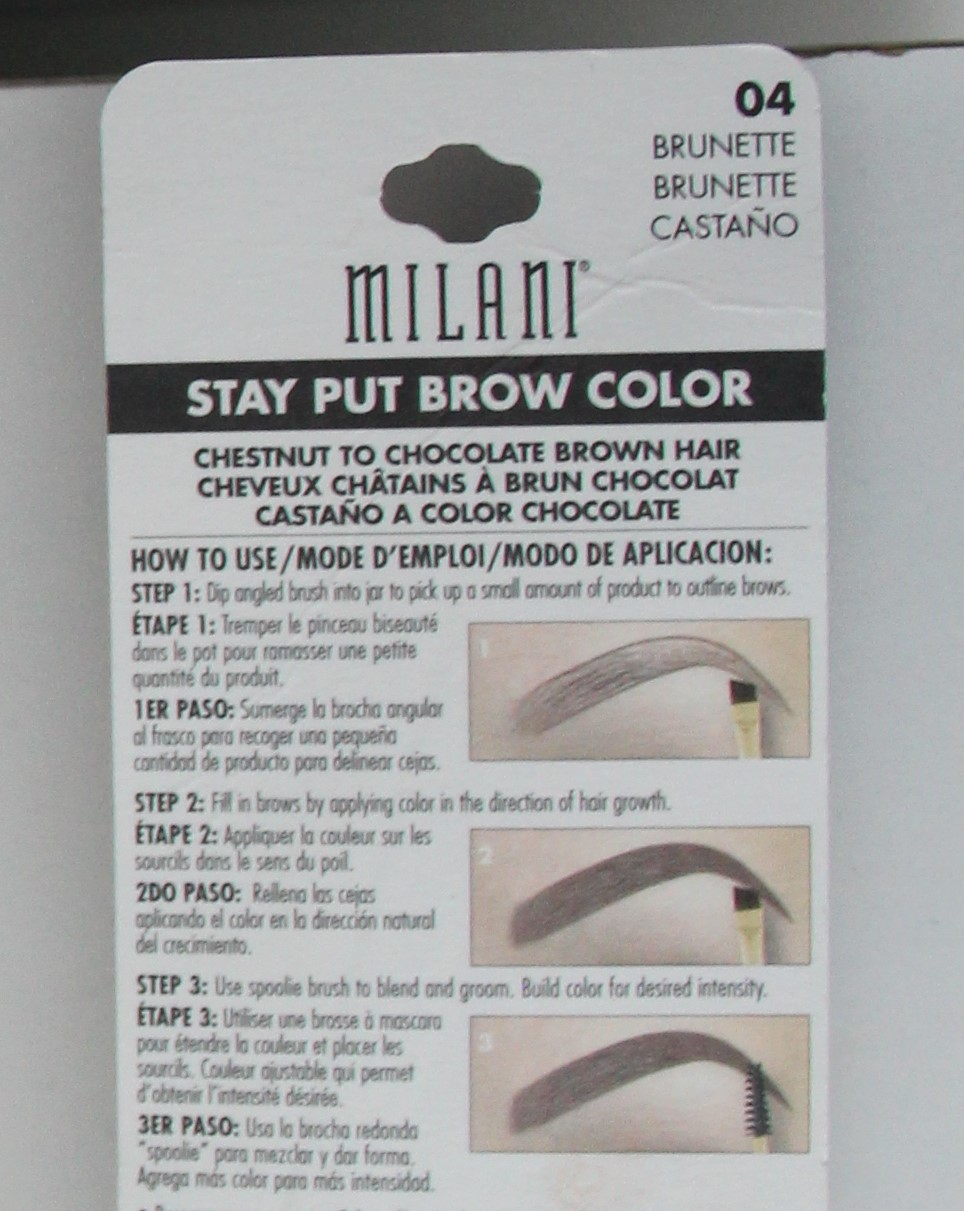 MILANI STAY PUT BROW COLOR gel à sourcils n°4 DisMoiCéline 4