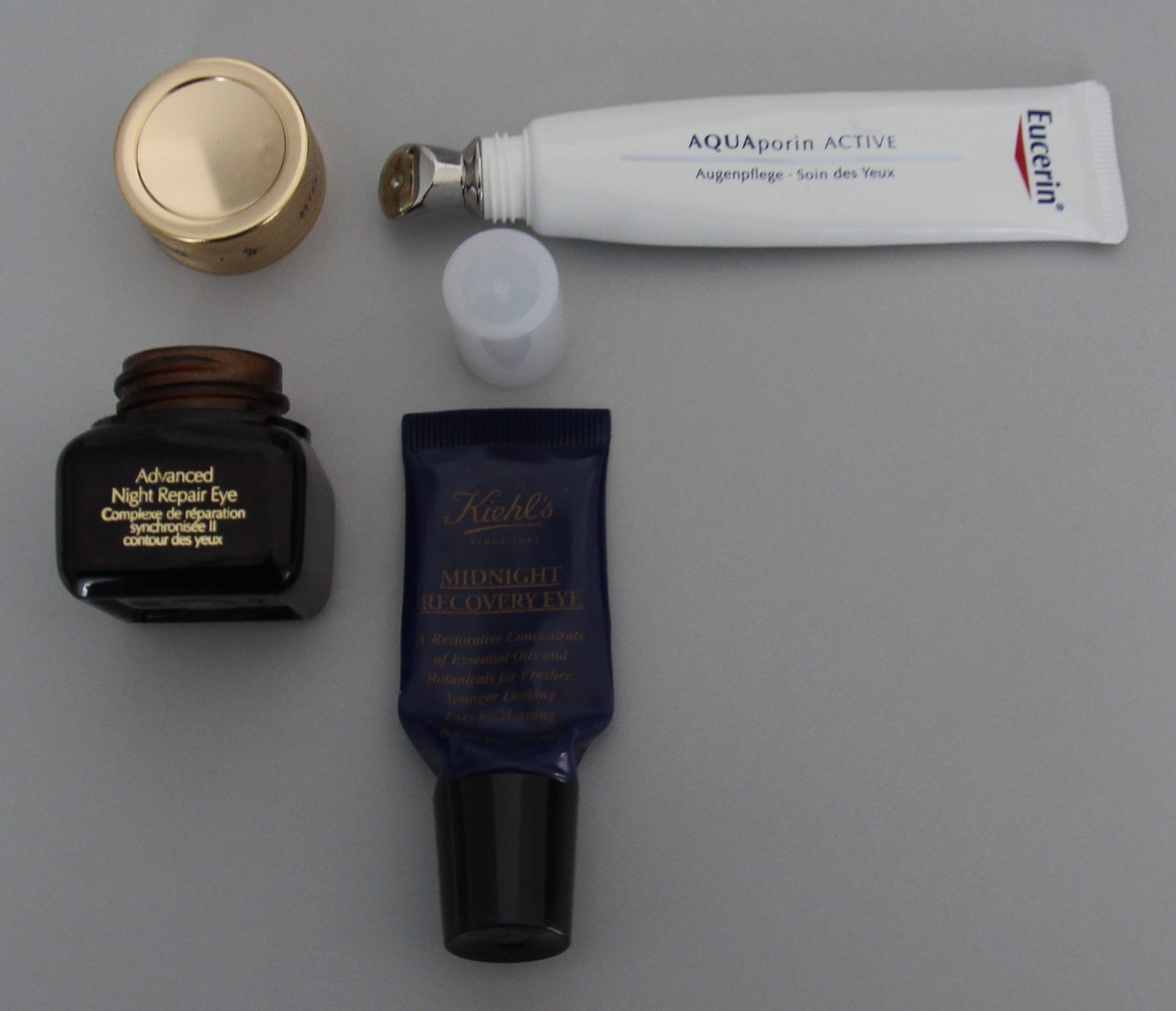 Contours yeux Estée Lauder Advanced night repair-Eucerin Aquaporin-Kiehl's Midnight recovery DisMoiCéline
