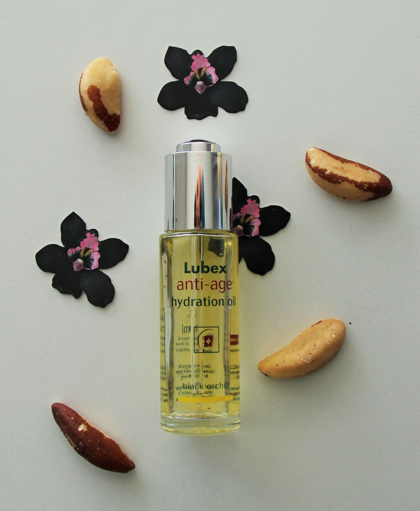 Lubex anti-age hydration oil orchid brazil nut DisMoiCéline